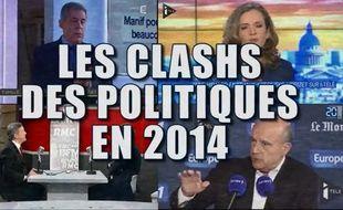 Capture d'écran vidéo 20 Minutes, les clashs politiques en 2015