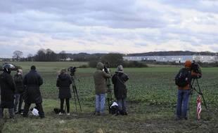 Journalistes télé à Dammartin-en-Goële le 9 janvier 2015