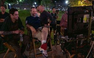 Pete Davidson et Judd Apatow sur le plateau de «The King of Staten Island»