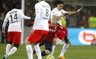 Les Parisiens n'ont pas réussi à prendre le dessus sur Lille, le 3 décembre 2014 au stade Pierre Mauroy.
