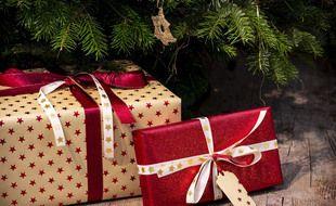 Illustration de cadeaux de Noël.