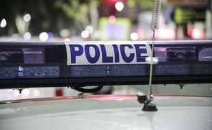 Illustration d'un véhicule de police.