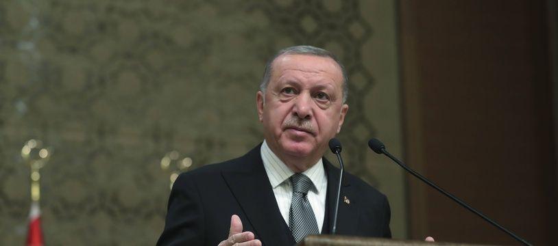 Le président turc Recep Tayyip Erdogan à Ankara le 2 janvier 2020.