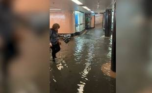 Le métro de Melbourne inondé le 14 décembre.