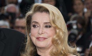 Catherine Deneuve à Cannes le 22 mai 2017.