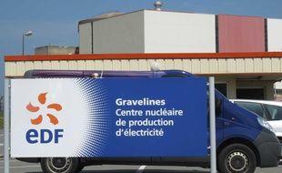 Illustration des abords de la centrale nucléaire de Gravelines.