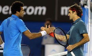Roger Federer et Jo-Wilfried Tsonga, le 20 janvier 2014
