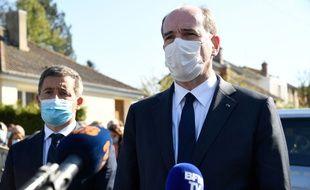 Jean Castex à Rambouillet après l'assassinat d'une fonctionnaire de police, le 23 avril 2021.