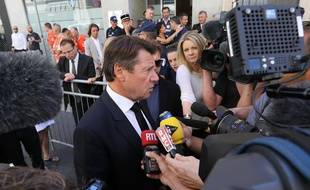Le président de la région Provence Alpes Cote d'Azur, Christian Estrosi, répond aux questions de la presse ce samedi 16 juillet.
