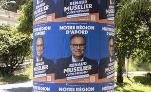 Affiche électorale de Renaud Muselier à Nice, mercredi 12 mai (illustration)