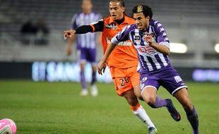 Le milieu toulousain Etienne Capoue, le 10 mars 2012 à Toulouse.