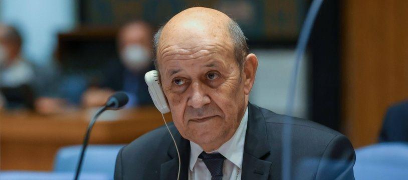 Le ministre français des Affaires étrangères, Jean-Yves Le Drian, aux Nations Unies à New York le 23 septembre 2021.