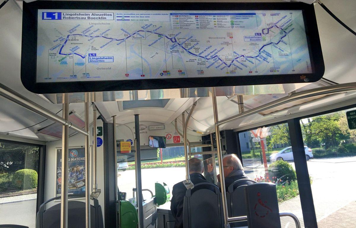 La nouvelle ligne de bus structurante  L1. Strasbourg le 21 avril 2017 – G. Varela / 20 Minutes