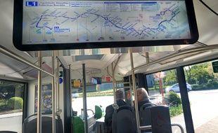 La nouvelle ligne de bus structurante  L1. Strasbourg le 21 avril 2017