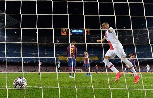 Mbappé a fait vivre la misère aux défenseurs barcelonais mardi soir.