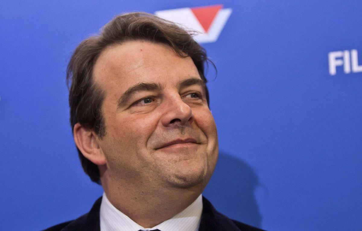 Thierry Solère (Les Républicains) lors d'une conférence de presse le 15 décembre 2016 à Paris – Michel Euler/AP/SIPA