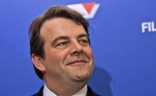 Thierry Solère (Les Républicains) lors d'une conférence de presse le 15 décembre 2016 à Paris