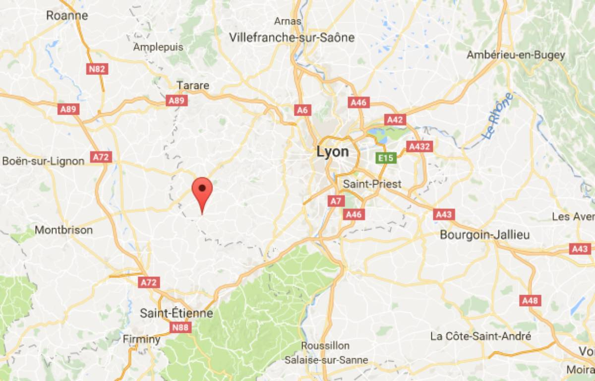 L'attaque a eu lieu dans la nuit à Saint-Symphorien-sur-Coise.  – Google Maps