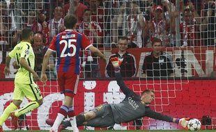 Marc André Ter Stegen lors de Bayern-Barça