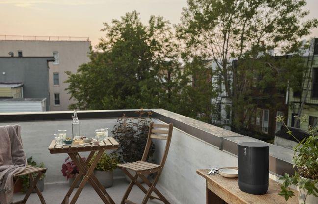Balcon, terrasse... l'enceinte Move fonctionne en Bluetooth.