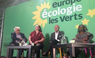 Laurent Fabius aux Journées d'été d'EELV à Lille, le 21 août 2015