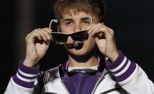 Justin Bieber lors de l'étape à Mexico de sa tournée mondiale «My World Tour» , le 1er octobre 2011