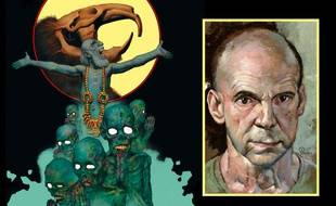 "Extrait de ""Rat God"" et autoportrait de Richard Corben"