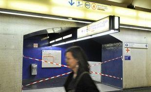 Illustration. Le trafic est interrompu sur la ligne du RER A le 31 octobre 2017.