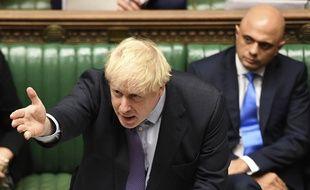 Le Premier ministre britannique Boris Johnson devant les députés le 22 octobre 2019.