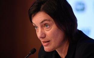Corinne Diacre en conférence de presse en février 2020.