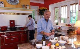 Le chef cuisinier français Georges Blanc, ici photographié en 2015 à Vonnas (Ain).