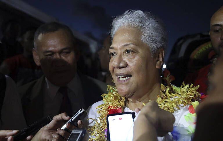 https://img.20mn.fr/TML4buFrQ3Cq2N70hfLREik/768x492_fiame-naomi-mataafa-lors-prestation-serment-temps-premiere-ministre-samoa-23-mai-2021.jpg