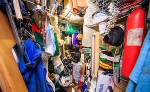 24 tonnes de déchets ont été retirés de l'appartement du vieil homme. (Illustration).