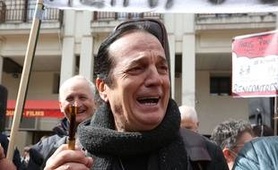 Francis Lalanne, lors d'une manifestation à Paris samedi