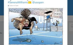 Capture du compte Twitter de Mark Knight, l'auteur de la caricature de Serena Williams.