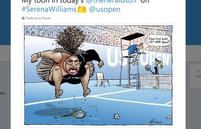Open d'Australie: La caricature douteuse de Serena Williams «n'a pas enfreint de règles d'éthique»