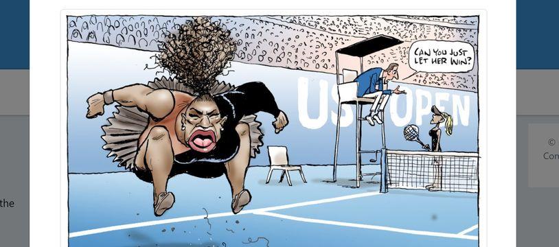 Capture du compte Twitter de Mark Knight, l'auteur de la caricature de Serena Williams.
