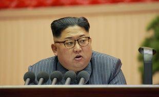 Le « leader suprême » Kim Jong-Un le 23 décembre 2017 à Pyongyang.