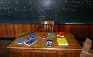 Le bureau d'un enseignant absent