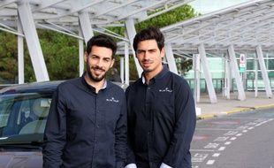 Les deux fondateurs de Blue Valet Benoît et Hugo Ricard.