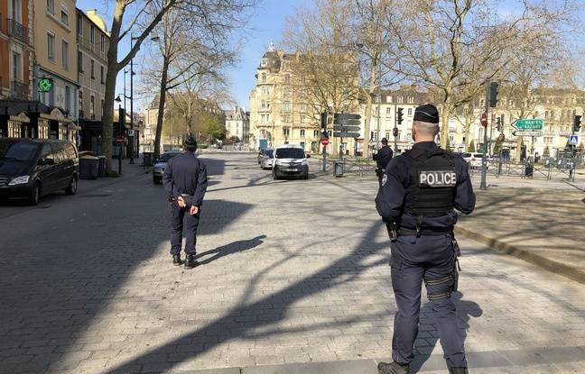 Illustration d'un contrôle de police pendant le confinement à Rennes.
