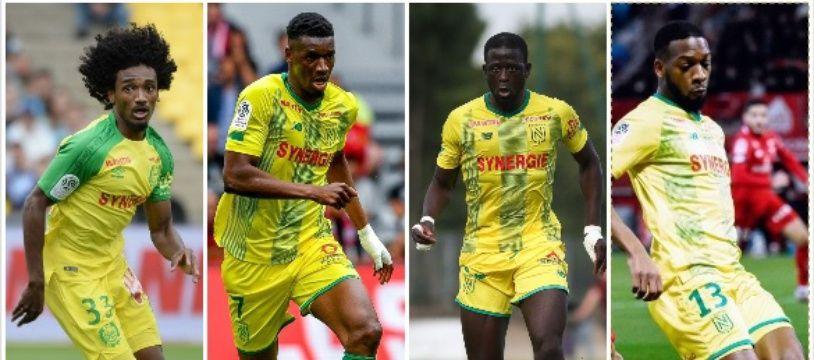 De gauche à droite, Moutoussamy, Coulibaly, Touré et Wague.