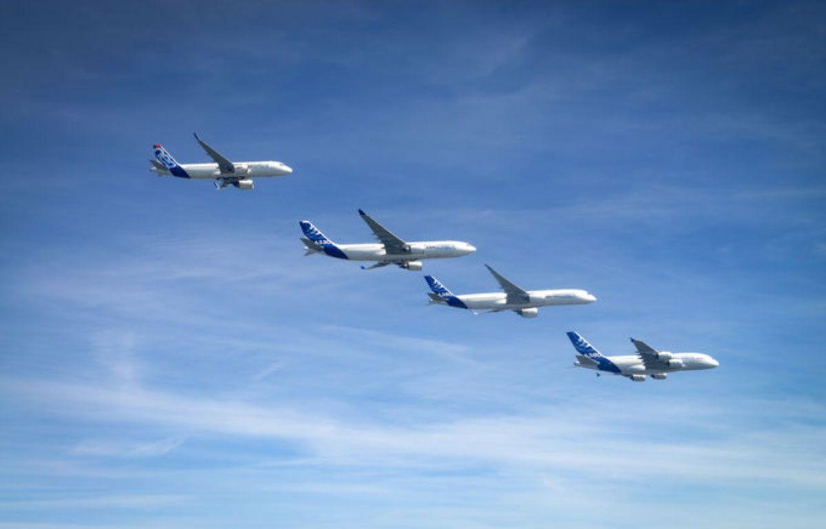Illustration d'une flotte d'avions Airbus.  – H. Gousse / MasterFilms/Airbus