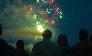 Un feu d'artifice du Nouvel an.