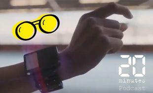 Illustration prototype de bandeau bracelet développé par Facebook