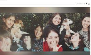 Les quatre sœurs ont recréé une photo d'enfance avec leur chien avant de lui dire adieu.