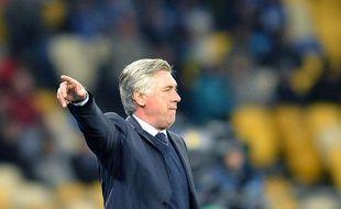 Carlo Ancelotti, l'entraîneur du PSG, le 21 novembre 2012, à Kiev.