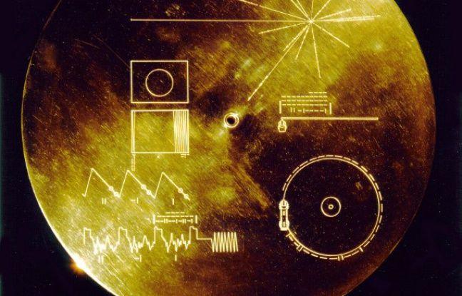 Le disque d'or à l'intérieur de Voyageur 1.