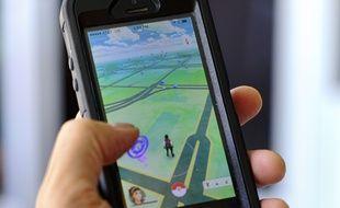 L'appli «Pokémon GO» sur un téléphone portable.