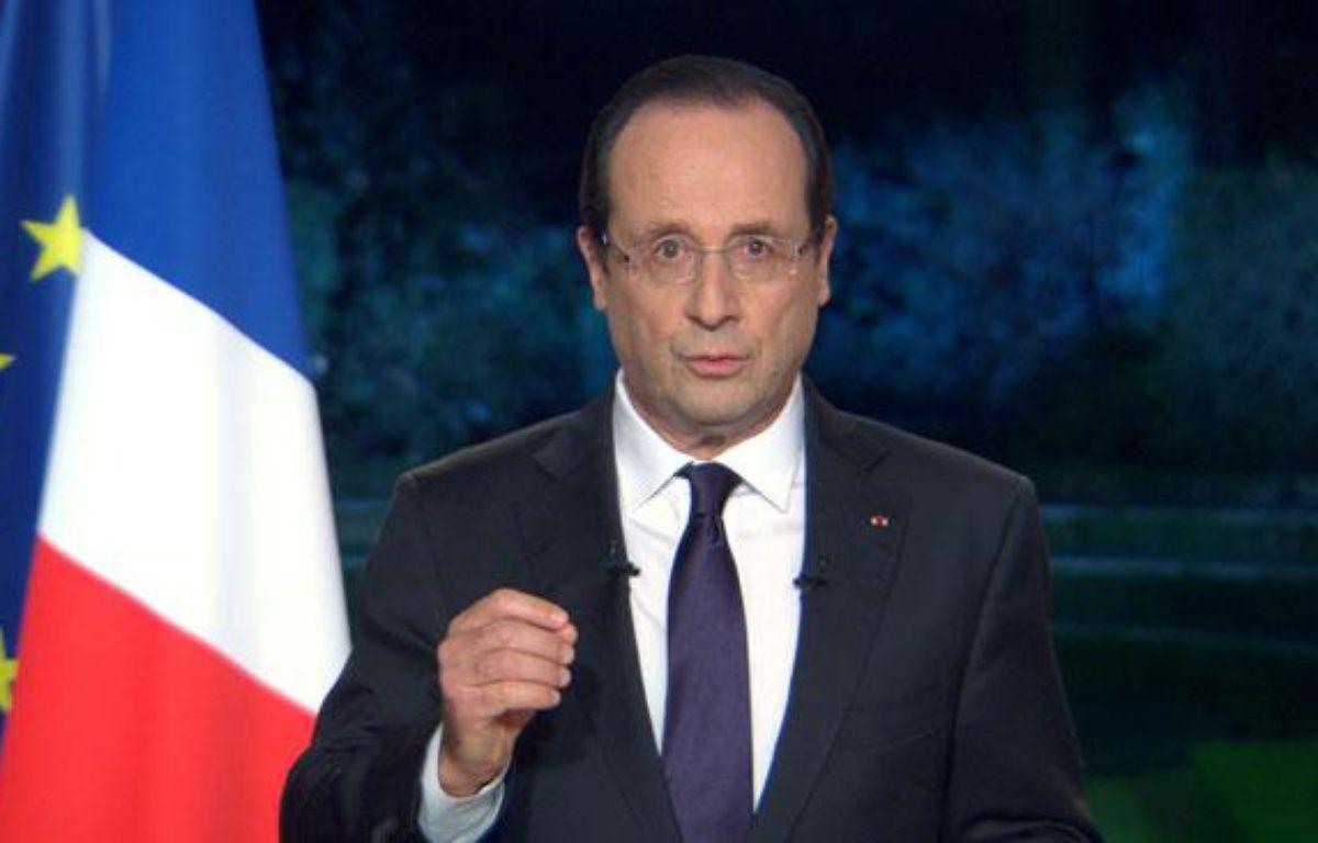 François Hollande lors de ses voeux, le 31 décembre 2012, à l'Elysée, à Paris. – FRANCE 2 / AFP